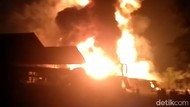 Pabrik Pengolahan Karet di Jambi Kebakaran