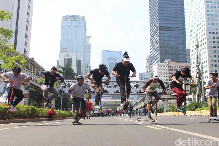 Mereka tergabung dalam komunitas Freestyle Scooter Indonesia atau FS_Ina. Foto: Nuruk Khotimah/detikHealth