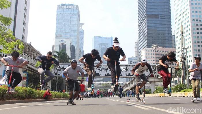 Komunitas Freestyle Scooter Indonesia (Foto: Nurul Khotimah/detikHealth)