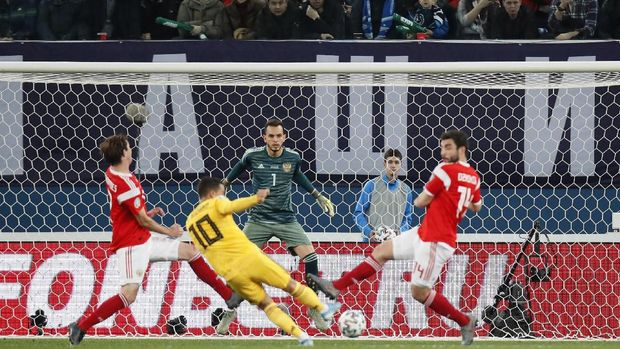 Hasil Kualifikasi Piala Eropa: Belgia Hancurkan Rusia