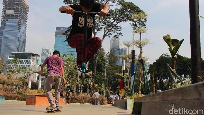 Otopet atau skuter juga bisa untuk olahraga (Foto: Nurul Khotimah/detikHealth)