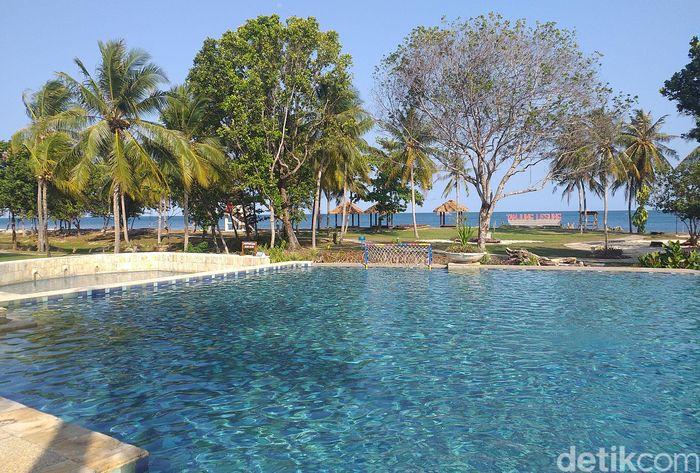 Tanjung Lesung Beach Hotel atau tempat manggung Seventeen kini sudah rapi dan cantik lagi.