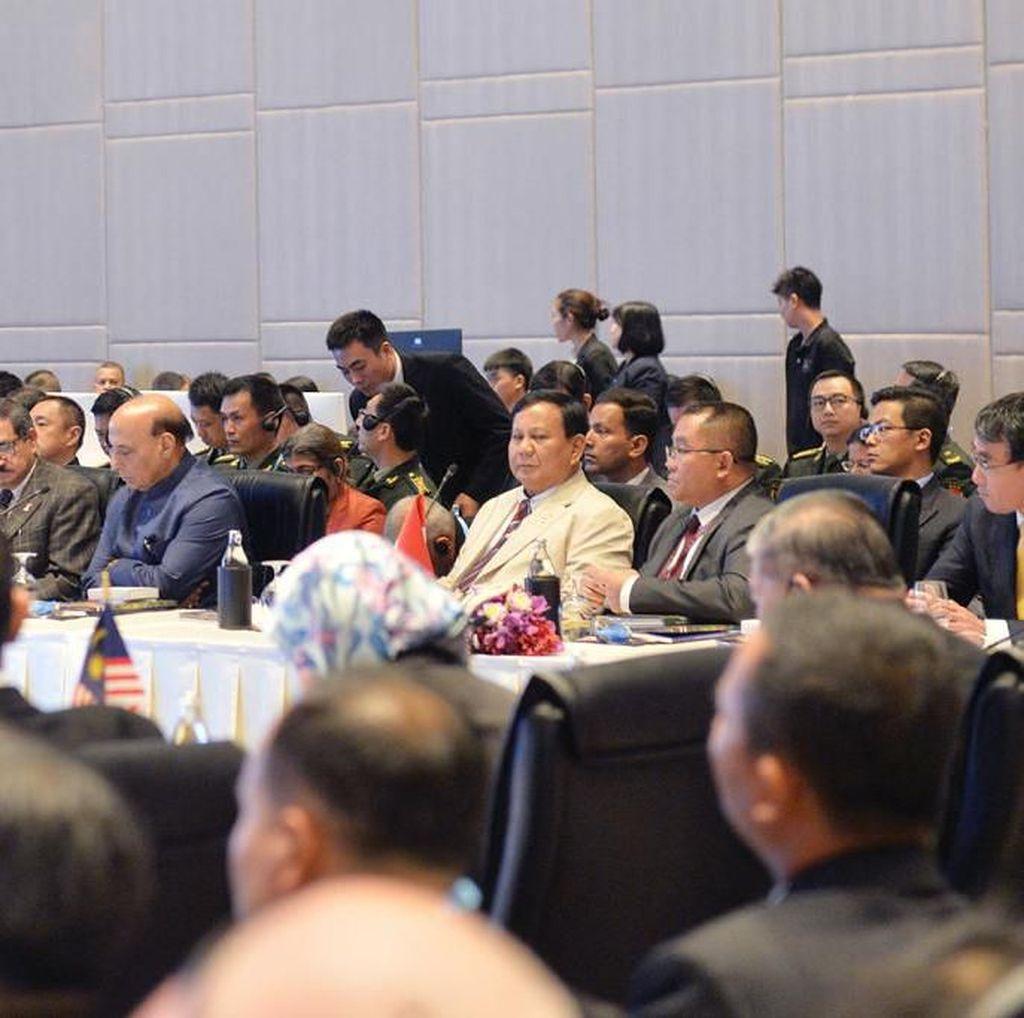 Di Forum Menhan se-ASEAN, Prabowo Bicara Stabilitas Laut China Selatan