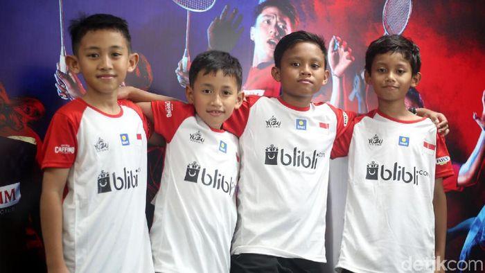 Empat pelajar Indonesia dari Malaysia ikut audisi umum beasiswa bulutangkis. (Foto: Akrom Hazami/detikSport)