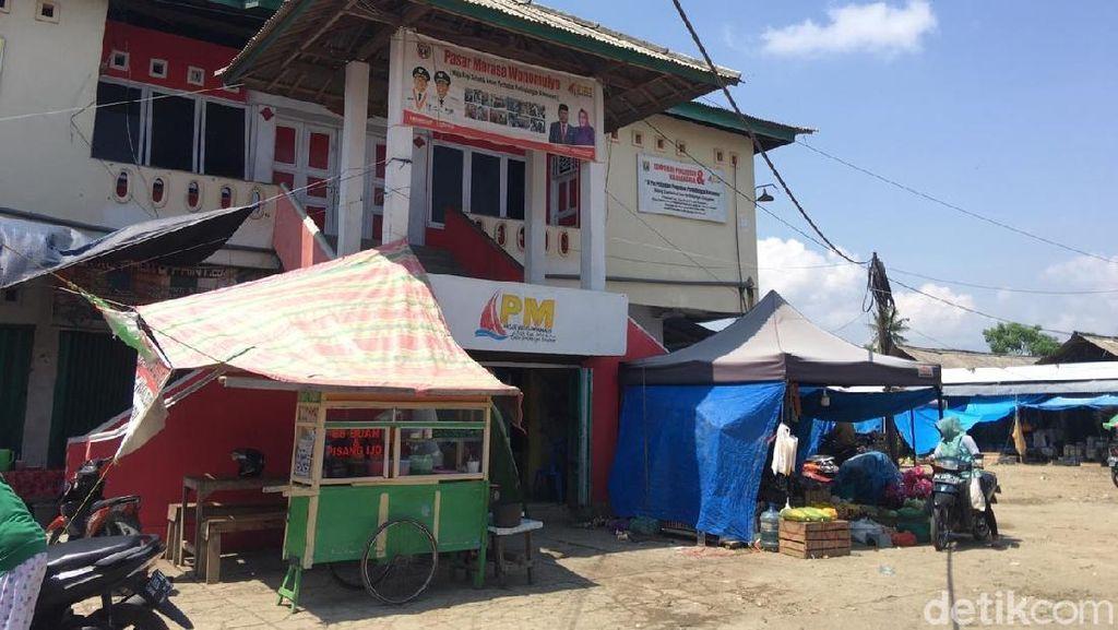 Pasar Marasa Sulbar Diteror Pria Bercelana Pendek Pencuri Karung Bawang