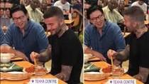 Wah! David Beckham Asyik Jajan Mee Goreng di Tekka Market