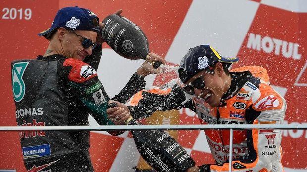 Fabio Quartararo sukses meraih podium kedua di MotoGP Valencia. (