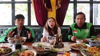 Kocak! Driver Ojol Ini Terbayang Rujak Gombret Saat Cicip Som Tum Thailand