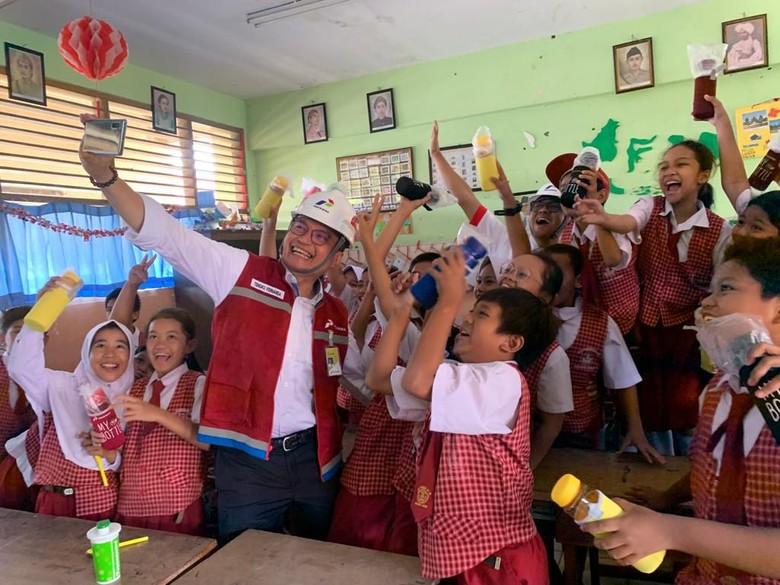 GM Pertamina Ajari Bisnis Migas ke Ratusan Anak SD