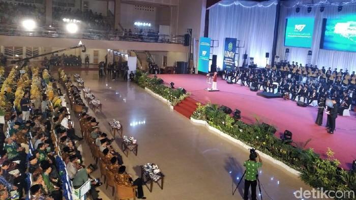 Suasana Milad ke-107 Muhammadiyah di UMY, Bantul, DIY, Senin (18/11/2019). Foto: Usman Hadi/detikcom