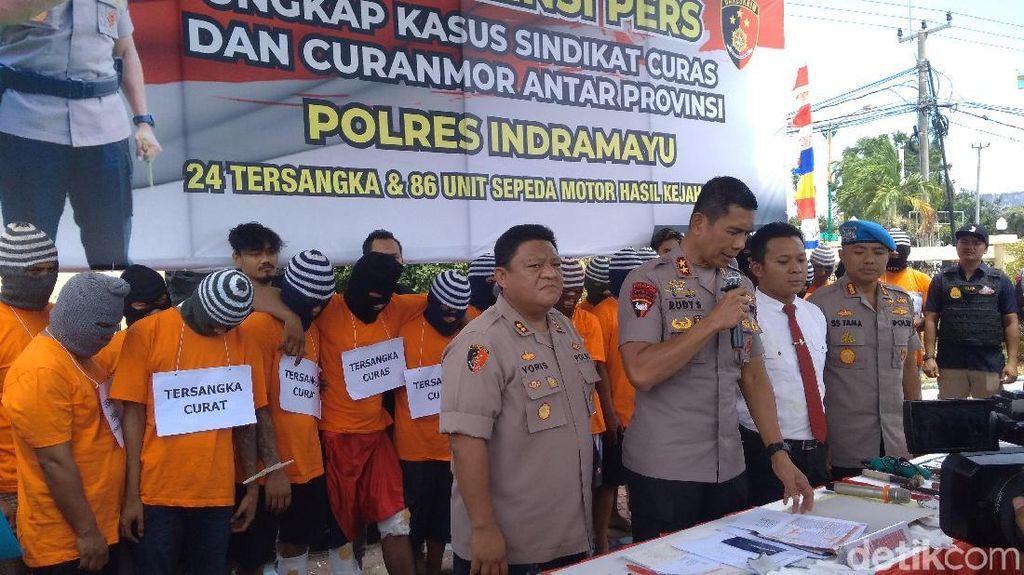 Polres Indramayu Ringkus 24 Pelaku Curanmor Lintas Provinsi