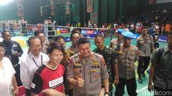 Kapolda Jateng Pantau Final Audisi Djarum, Juga Tantang Liliyana Natsir
