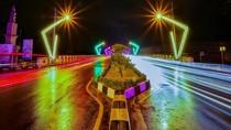 Lampu Warna-warni Kini Sambut Wisatawan di Banda Aceh