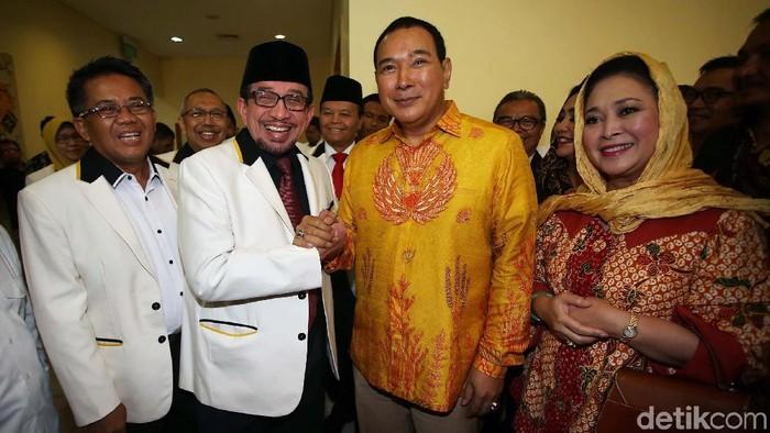 Pertemuan PKS dengan Partai Berkarya (Agung Pambudhy/detikcom)