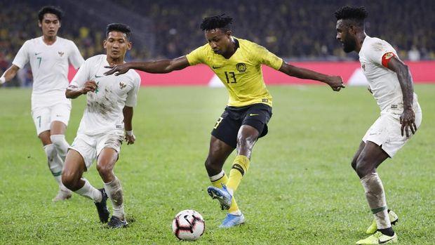 Timnas Indonesia kalah 0-2 dari Malaysia di Stadion Nasional.