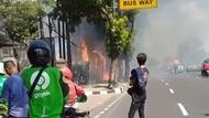 Bedeng di Pinggir Jalan Gatsu Terbakar Siang Tadi, Tak Ada Korban Jiwa