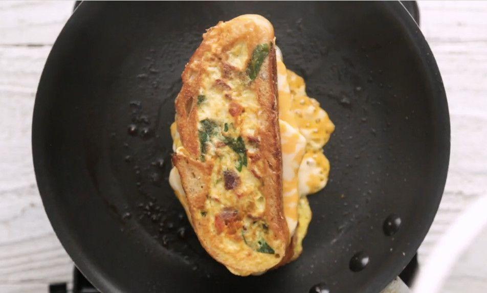 Omelet Keju Panggang