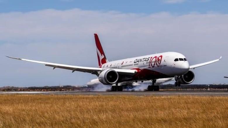 Pesawat Qantas bernomor QF7879 (Foto: Qantas/CNN)