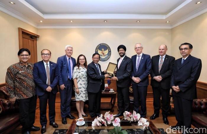 Mahfud Md bertemu perwakilan Parlemen Selandia Baru (Foto: Istimewa)