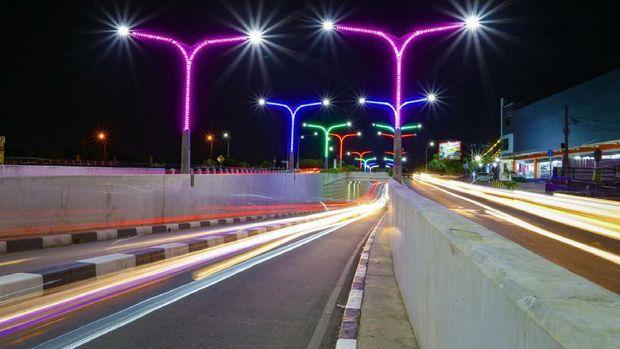 Ada Lampu Warna-warni Kece Sambut Wisatawan di Aceh