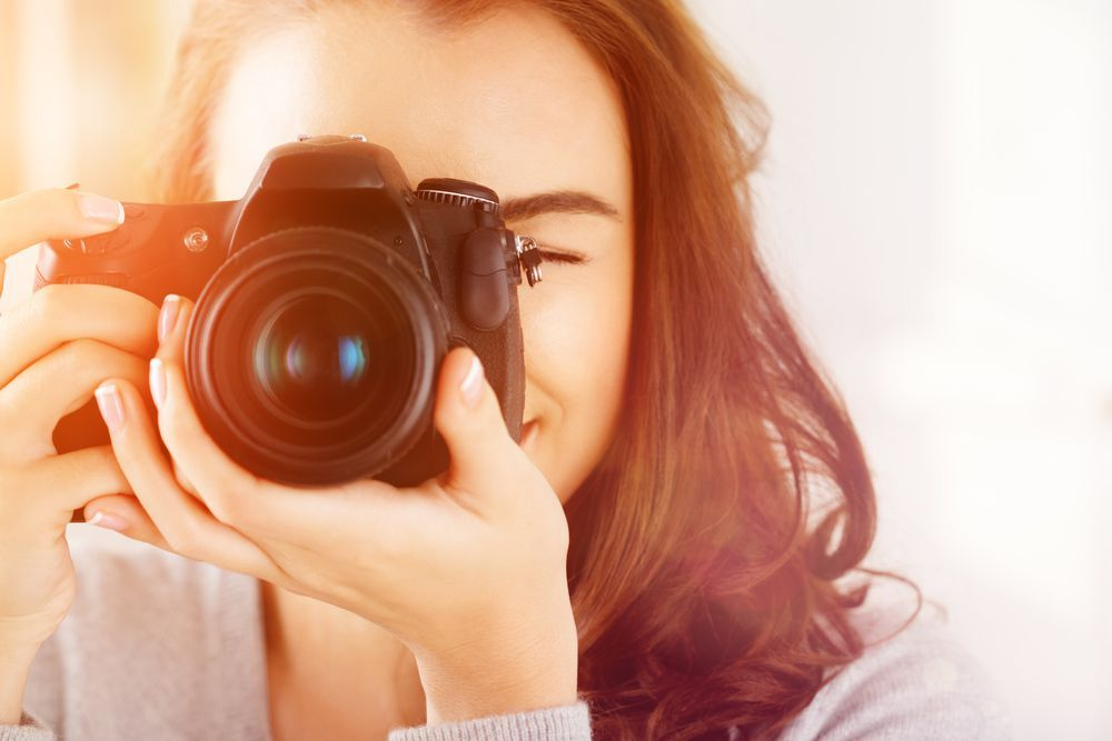 Ilustrasi kamera fotografer
