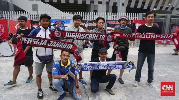 Suporter Indonesia tidak khawatir ada serangan balasan di Stadion Bukit Jalil.