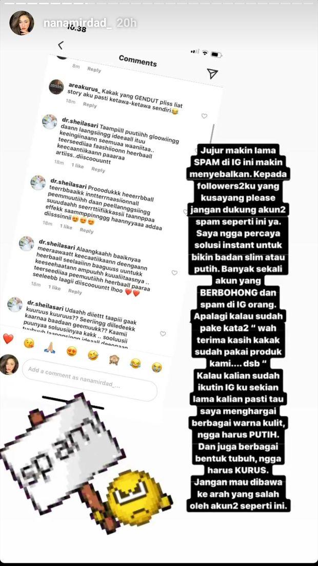Duh! Nana Mirdad Kesal dengan Spam Pelangsing Tubuh