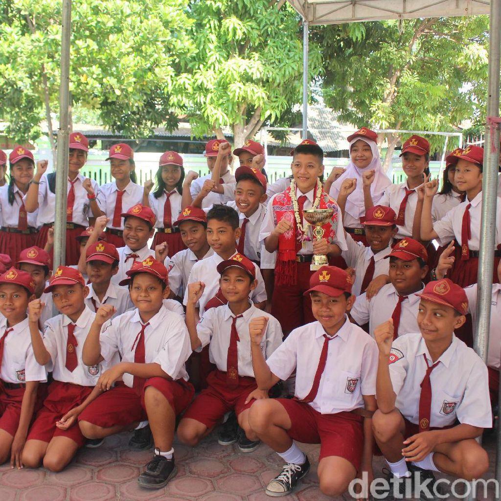 Pelajar SD Negeri di Sidoarjo Ini Raih Medali Emas Karate Tingkat Dunia