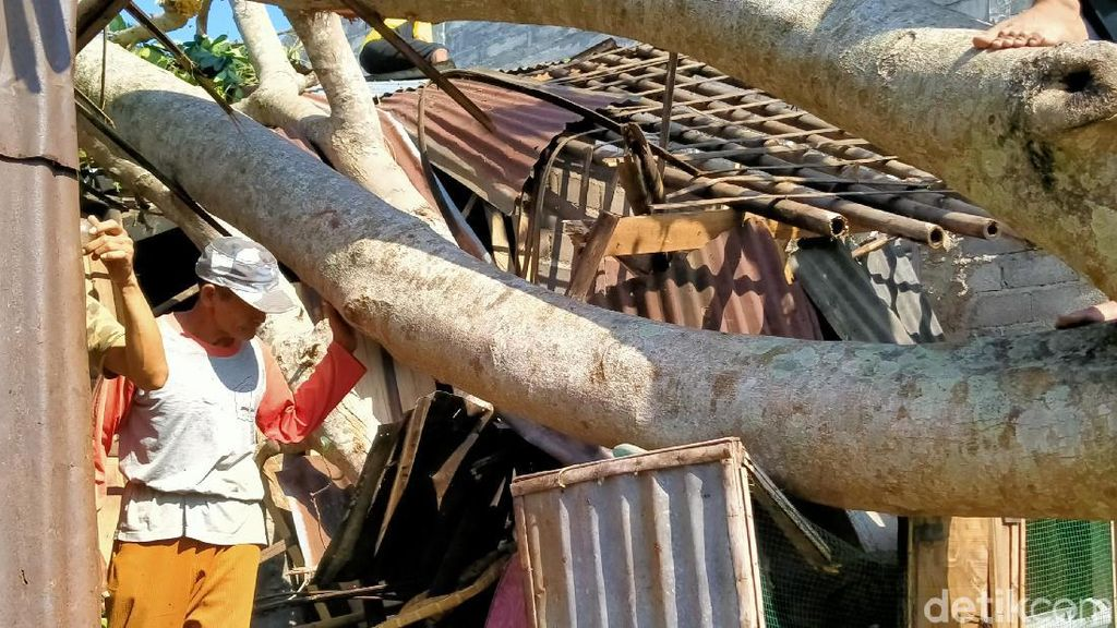 Penampakan Kerusakan Rumah Warga Akibat Angin Kencang di Pemalang