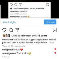 Dipuji Oleh Selena Gomez di Instagram, Bella Hadid Malah Hapus Postingan
