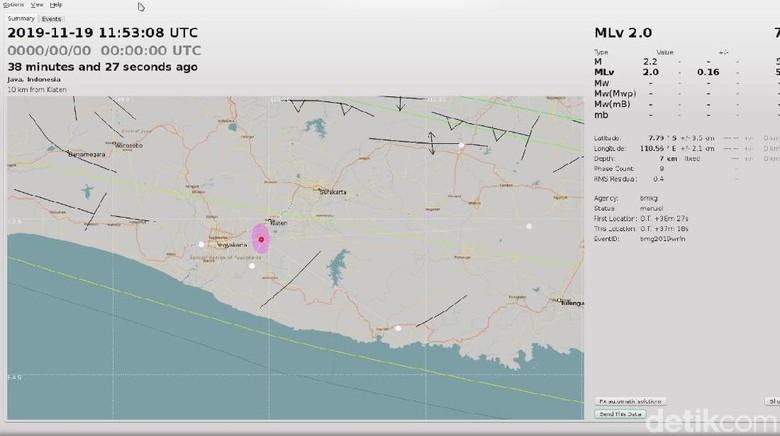 Gempa Darat Kembali Terjadi di Klaten Malam Ini, Magnitudo 2 SR