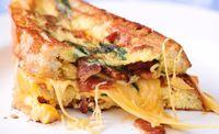 Resep masakan rumahan: omelet keju panggang.