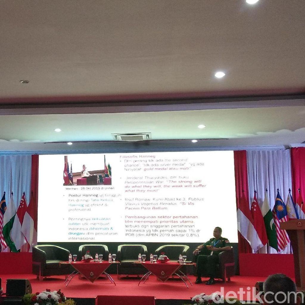 Kunjungi Unhan Saat Pertama Jabat Menhan, Prabowo Ingin SDM Kuat