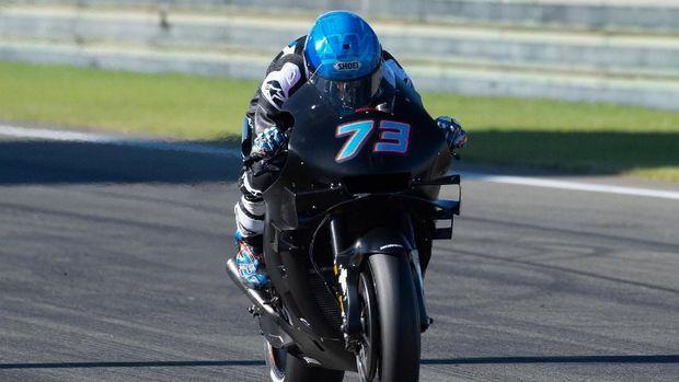 Alex Marquez menjalani tes perdana MotoGP bersama Honda di Valencia.