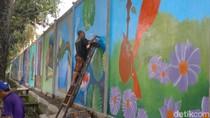 Mural Bikin Semarak Jalan Polonia Medan