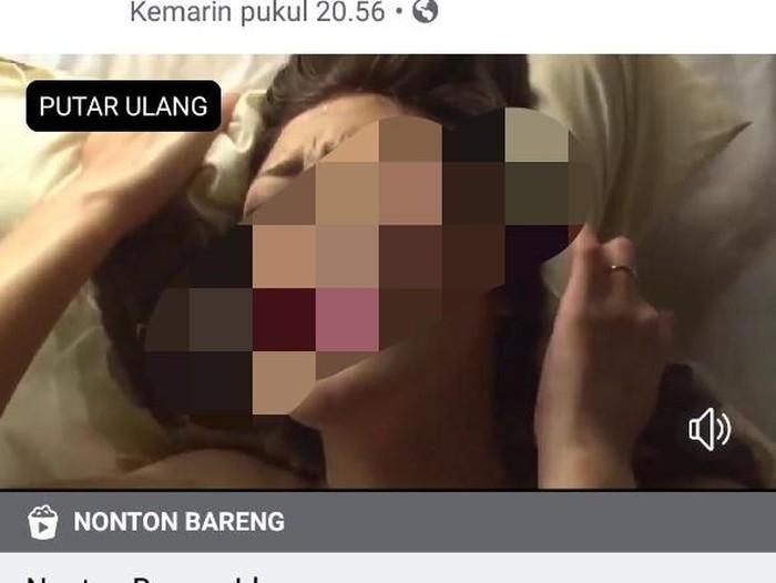 Foto konten film porno yang diunggah (Foto: Tangkapan Layar)