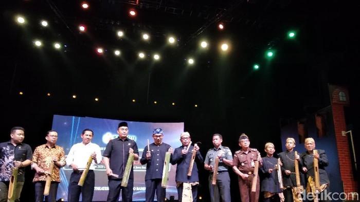 Acara peluncuran Pengawasan Pilkada 2020 di Trans Studio Bandung. (Foto: Dony Indra Ramadhan/detikcom)