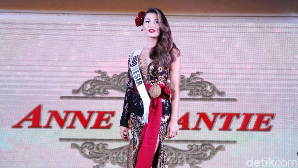 Terpeleset, Puteri Indonesia Ini Tetap Anggun di Penjurian Miss Universe 2019