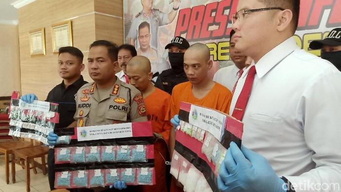 Polresta Denpasar menangkap 3 pengedar narkotika (Aditya Mardiastuti/detikcom)