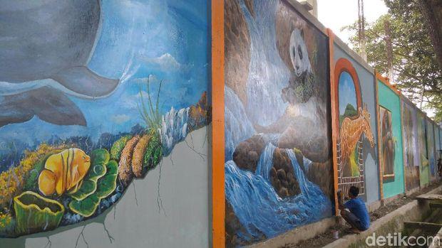 Mural di Jalan Polonia Medan Sumut