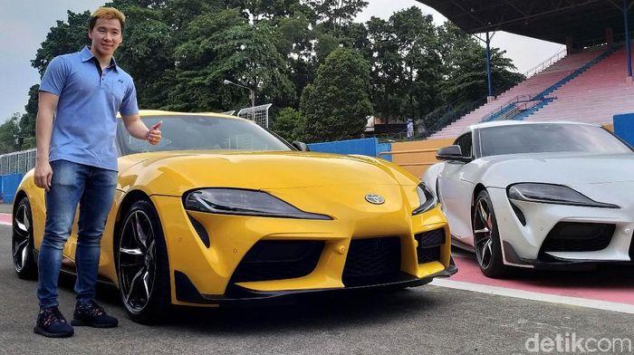 Marcus Fernaldi Gideon memiliki mobil baru senilai Rp 2 miliar. (Luthfi Anshori/detikSport)