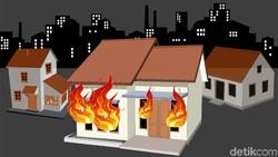 Kebakaran di Keagungan Jakbar Hanguskan 112 Rumah