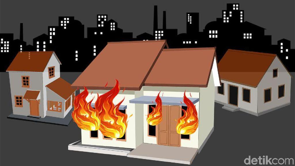 Polisi Temukan Celana Bau Minyak di Rumah Keluarga yang Dibakar di Ciputat