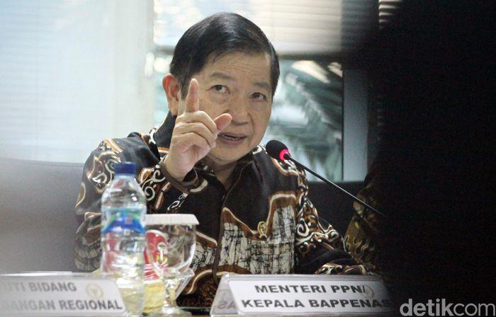 Menteri PPN/Kepala Bappenas Suharso Monoarfa menghadiri rapat kerja bersama Komite I DPD RI, Jakarta, Rabu (20/11/2019).