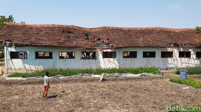 Kondisi ruang kelas SDN Talun Mojokerto yang rusak (Foto: Enggran Eko Budianto/detikcom)