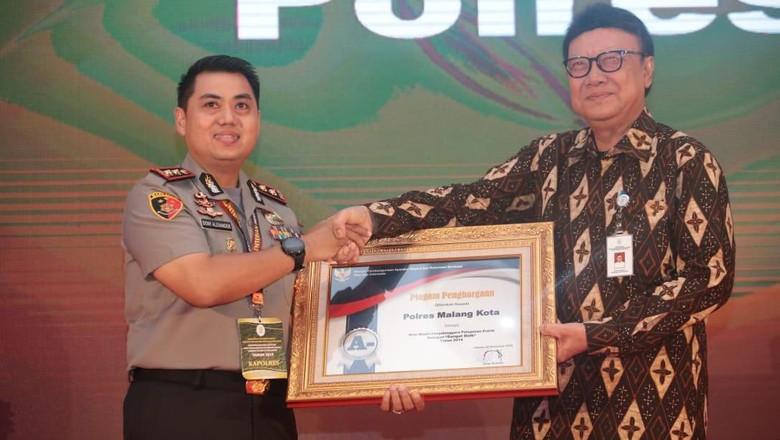 Polres Malang Kota Raih Predikat Sangat Baik Dalam Pelayanan Publik dari Kemenpan RB