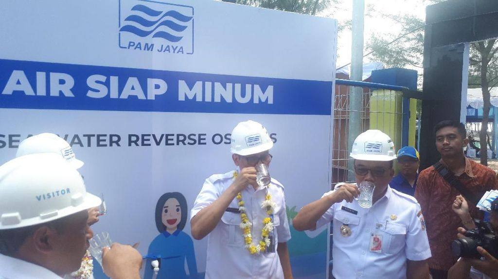Pemprov DKI Resmikan 4 Alat Pengolah Air Laut di Kepulauan Seribu