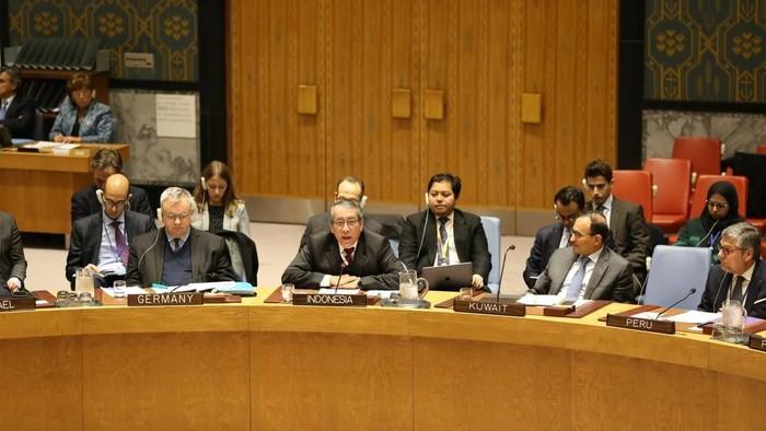 Foto: RI Galang Dukungan DK PBB Tolak Upaya AS Legalkan Permukiman Israel (Dok. PTRI New York)