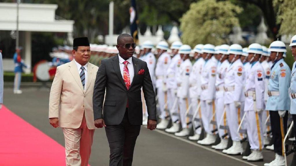 Prabowo Terima Kunjungan Menhan Ghana, Jajaki Kerja Sama Pertahanan