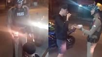 Tak Jadi Ditilang, Remaja Galau Ini Diberi Kue Ulang Tahun Oleh Polisi